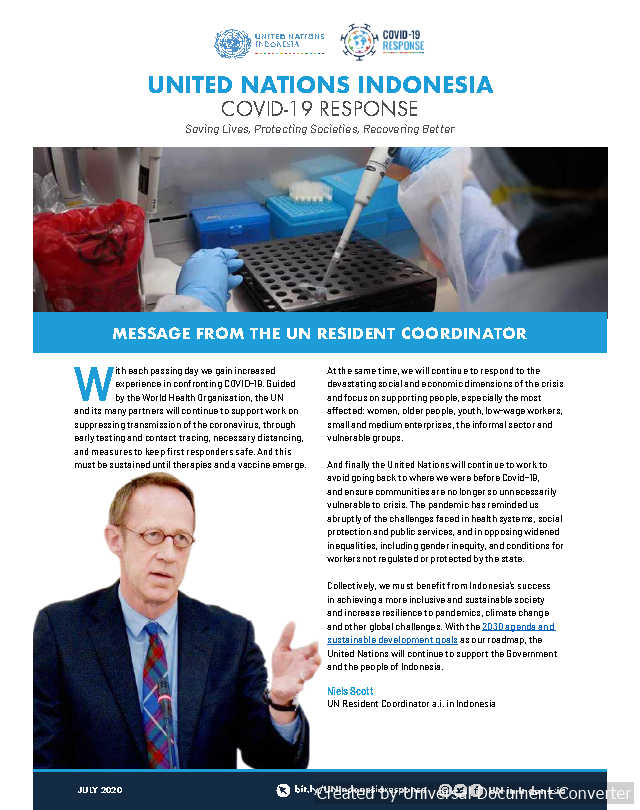 UN in Indonesia COVID-19 Response Newsletter July 2020