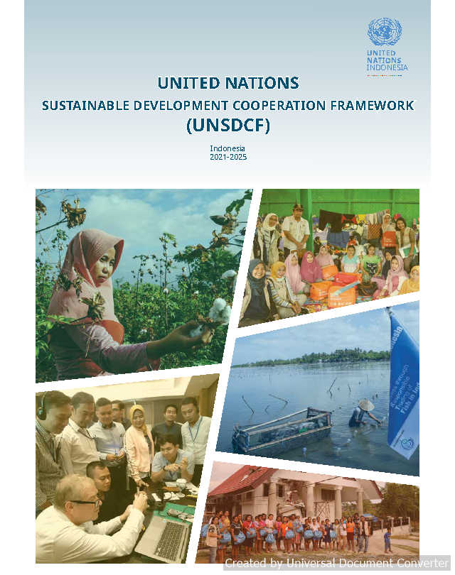 United Nations Sustainable Development Cooperation Framework (UNSDCF) 2021-2025