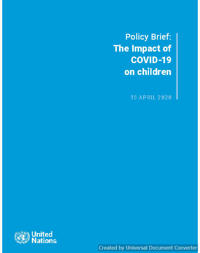 Policy Brief on COVID impact on Children
