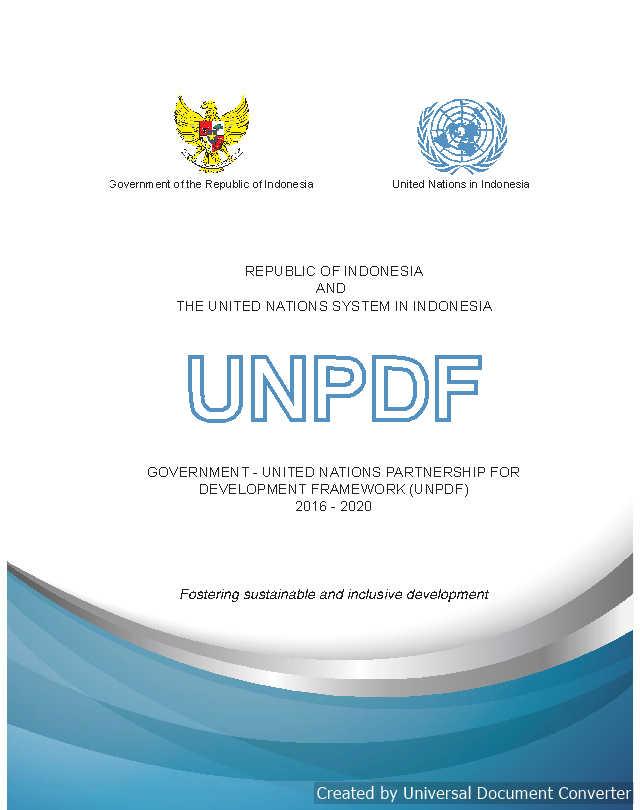 UNPDF 2016 - 2020