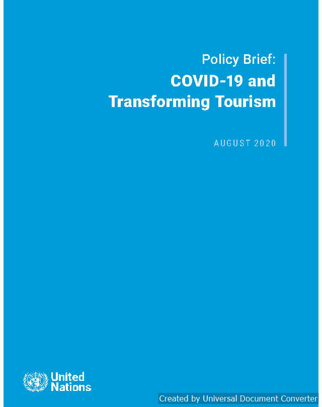 Policy Brief : COVID-19 and Transforming Tourism