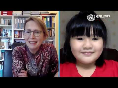 #HAN2021 - Video Call Bersama Kepala Perwakilan PBB di Indonesia Valerie Julliand dan anak-anak Indonesia dari beragam provinsi